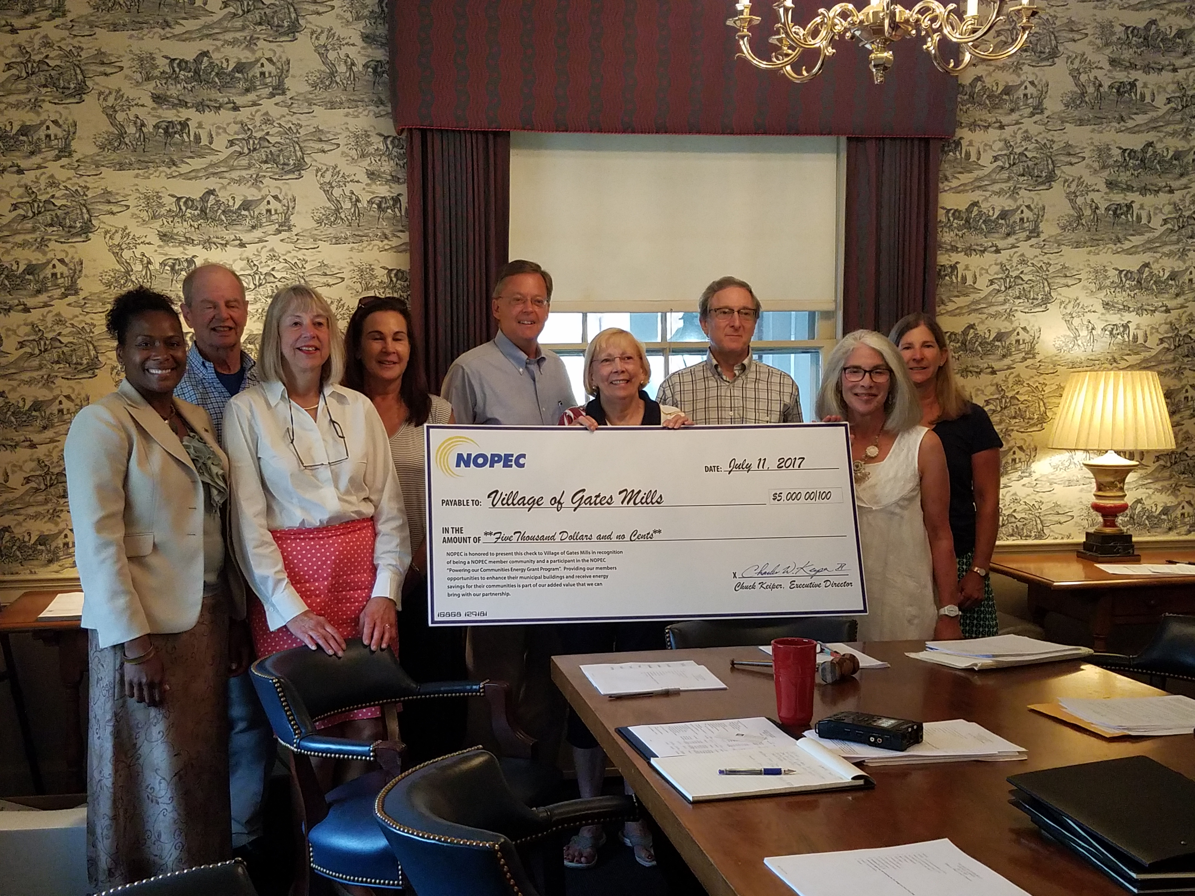 News Article - NOPEC Finalizes $5,000 Grant Award To the Village of