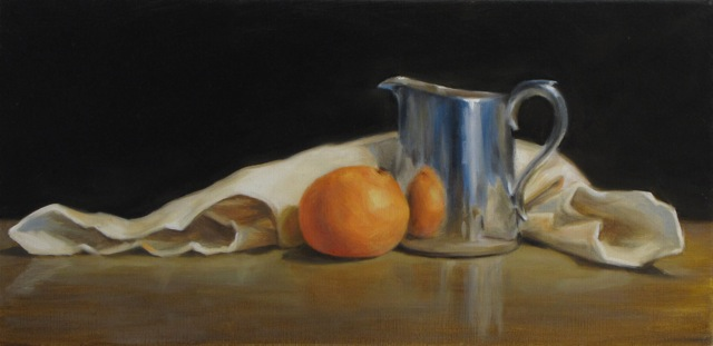 """""""Arrangement with Orange and Silver"""", Diane Farr"""