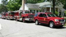 Fire Deparment Vehicles On Display.
