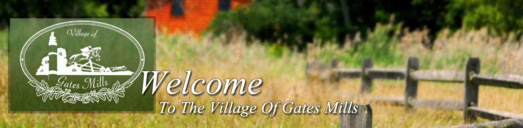 Welcome To The Village Of Gates Mills